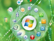 Circle Dock 0.9.2 Alpha 7 - Example dock with icons.