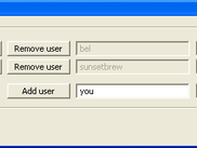 Add users and passwords (Windows version)