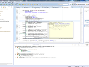 An example of the FRED Client in Eclipse Juno