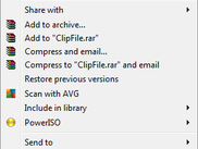 "Screen shot of the ""Copy URL To Clipboard"" item on the Windows context menu."