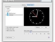 ClockSaver module in System Preferences.app