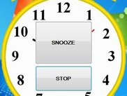 Snooze and stop buttons