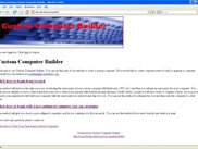Front Page of the Custom Computer Builder