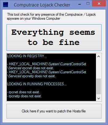 Computrace Lojack Checker