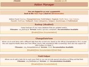 The addon manager. Addons enhance Coranto functionality.