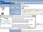 Corinis Administration CMS module - Editor view + Versions