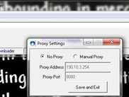 CrazyDownloader - Changing Proxy settings