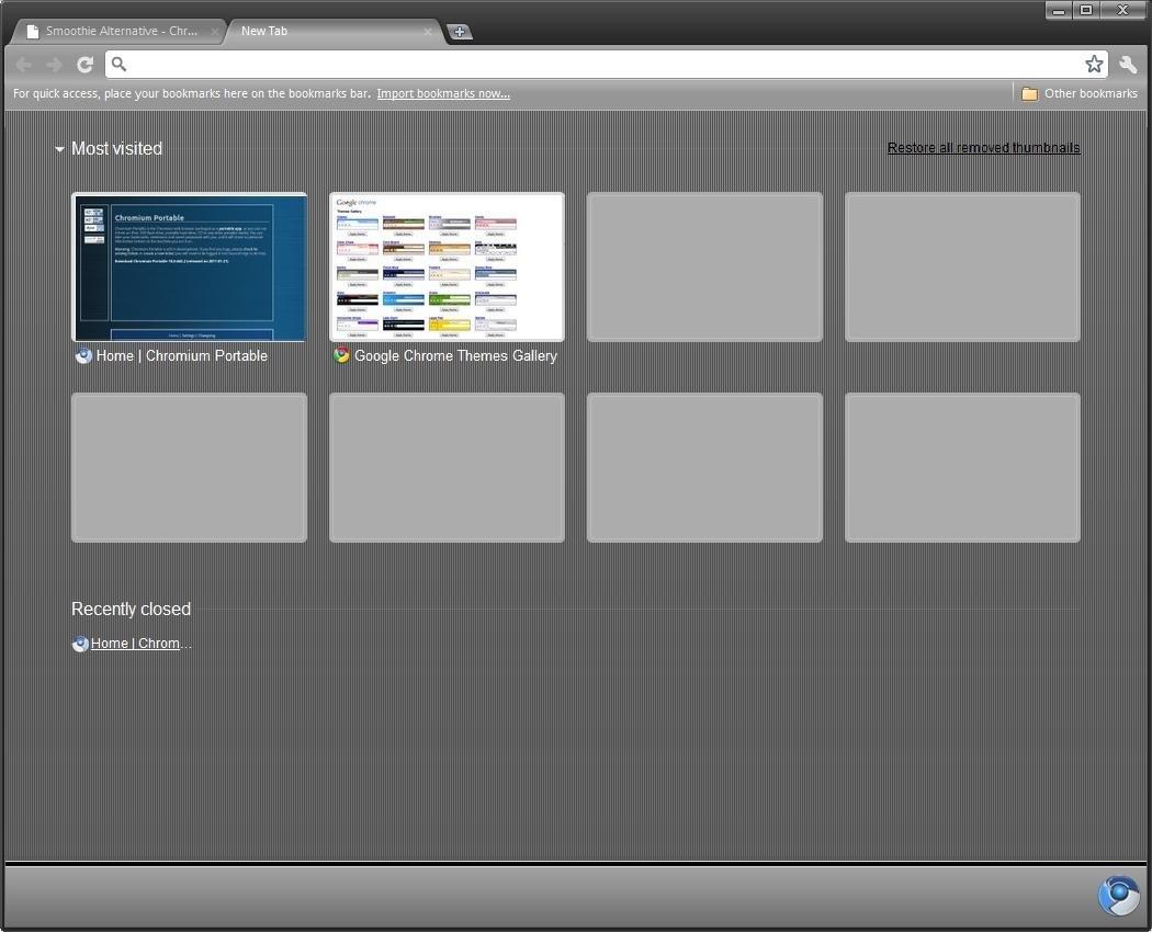 Chromium portable screenshot