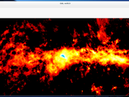 An 870 micron image of the Galactic Center, reduced with CRUSH and opened with show.
