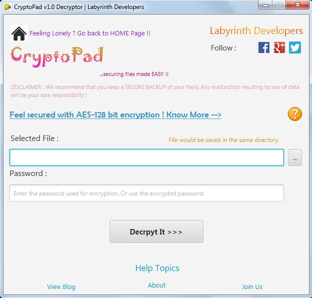 Java encryptor decryptor