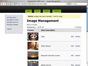 Image Management Page