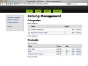 Catalog Management view