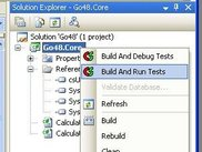 Project context menu with csUnit entries added.