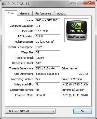 CUDA-Z full screenshot