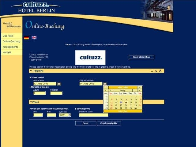 Cultbooking hotel booking system for Design hotel reservation system