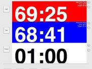 Current version of CurlingTimer with red and blue rocks