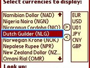 The form to select the currencies in the main form