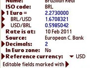 The details about one specific currency