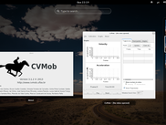 Look and feel of the CvMob in a Linux enviroment (GNOME Shell)