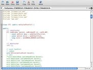 A development version running on Mac OS X (Tiger)