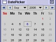 Date Picker Main Screen