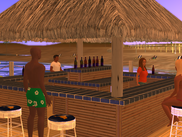 Come have a seat at the tiki bar.