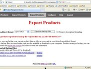 Exporting Products to a Spreadsheet