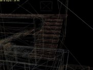 The engine in wireframe mode.