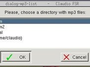 Choose a directory with mp3 files