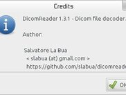 DicomReader 1.3.1 credits window