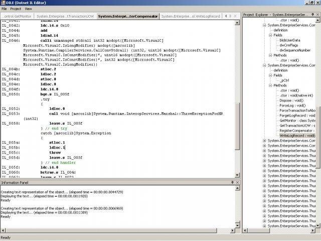 Dotnet IL Editor screenshot