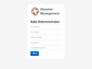 Create administrator account page