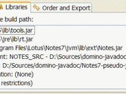 An example of source and javadoc configuration in Eclipse.