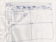 One of 3 early sketches. This one depicts the editor UI and tab view.