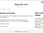 Drukkar 2.0.0 out of the box