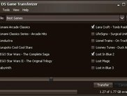 Main application window for selecting games to transfer