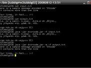 dvorcode CLI - sample decode / encode session with test msg