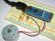 Measure current in DC motor