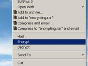 hash, encrypt & decrypt items in context menu.
