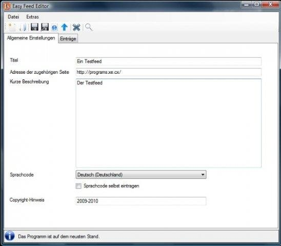 Windows 7 Easy Feed Editor 3.5.2 full