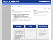 eduCommons Front Page