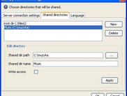 Configure shared directories