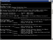 EnguiMapCLI Running on Windows 2008 Server with Virtual VMWare Interfaces Displayed
