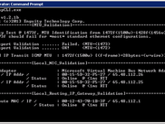 EnguiMapCLI Running on Windows 2008 Server with Virtual Hyper-V Interfaces Displayed