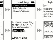 Encyclopodia eBook-reader running on an iPod mini