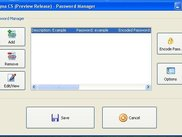 Password Manager window (Enigma CS v0.5.1.672)