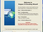 Encoding Wizard window (Enigma CS v0.5.1.672)