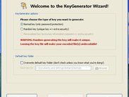 KeyGenerator Wizard window (Enigma CS v0.5.1.672)