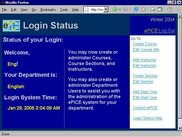 Department Administrator Login Status Page