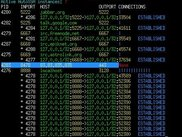 Ereshkigal 0.1 curses interface, showing all SSH connections